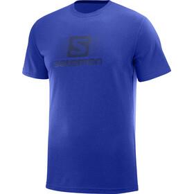 Salomon Blend Logo Miehet Lyhythihainen paita , sininen
